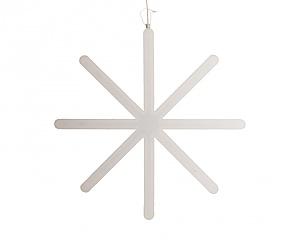 een witte ster waarvan de middellijn (diameter) 40 centimeter is.