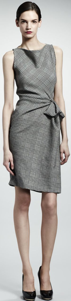 classic plaid dress