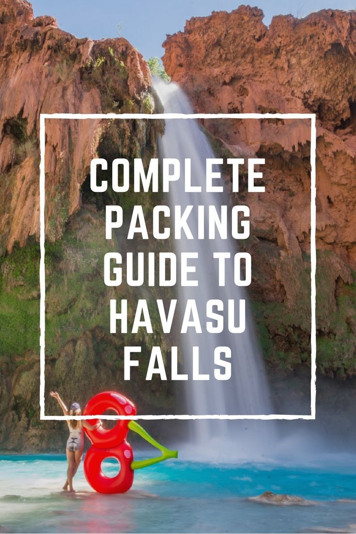 What to pack for Havasu Falls, Arizona. Now that you have your permit to camp at the Havasupai Reservation you're probably wondering what to bring. Follow this detailed packing list for Havasu Falls! by Wandering Wheatleys #HavasuFalls #Havasupai #Arizona #GrandCanyon #USA #NorthAmerica #Hiking #Camping #Backpacking #Waterfall
