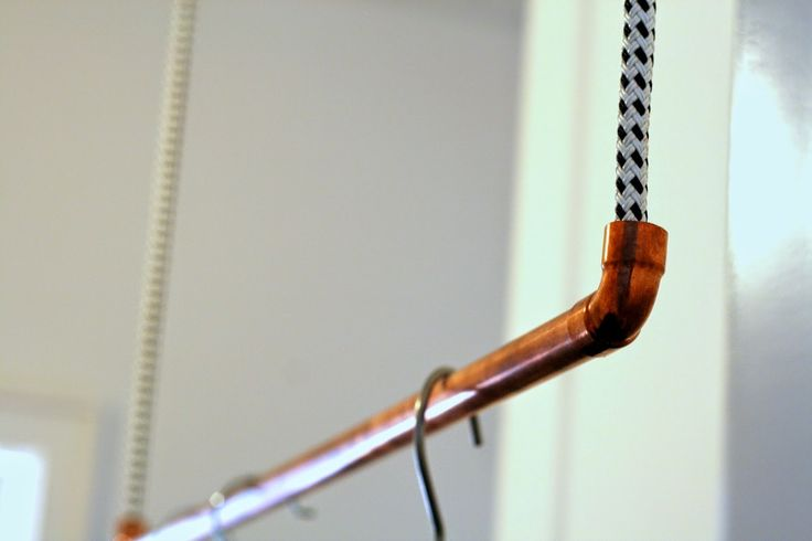 DIY Hängegarderobe aus Kupferrohr