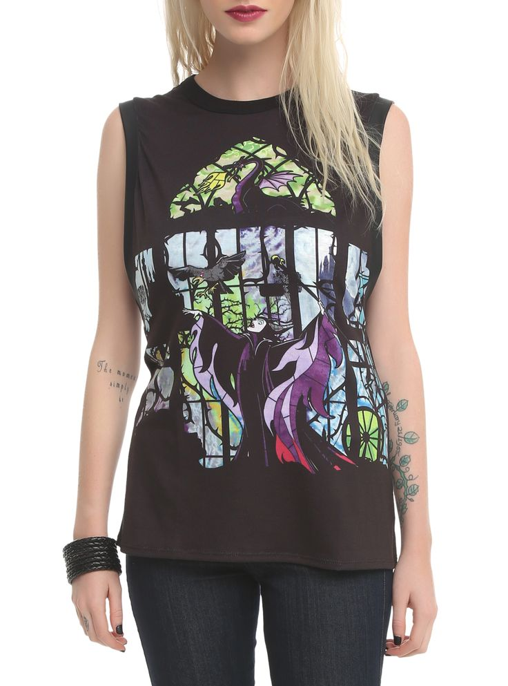Disney Sleeping Beauty Maleficent Muscle Girls Top | Hot Topic