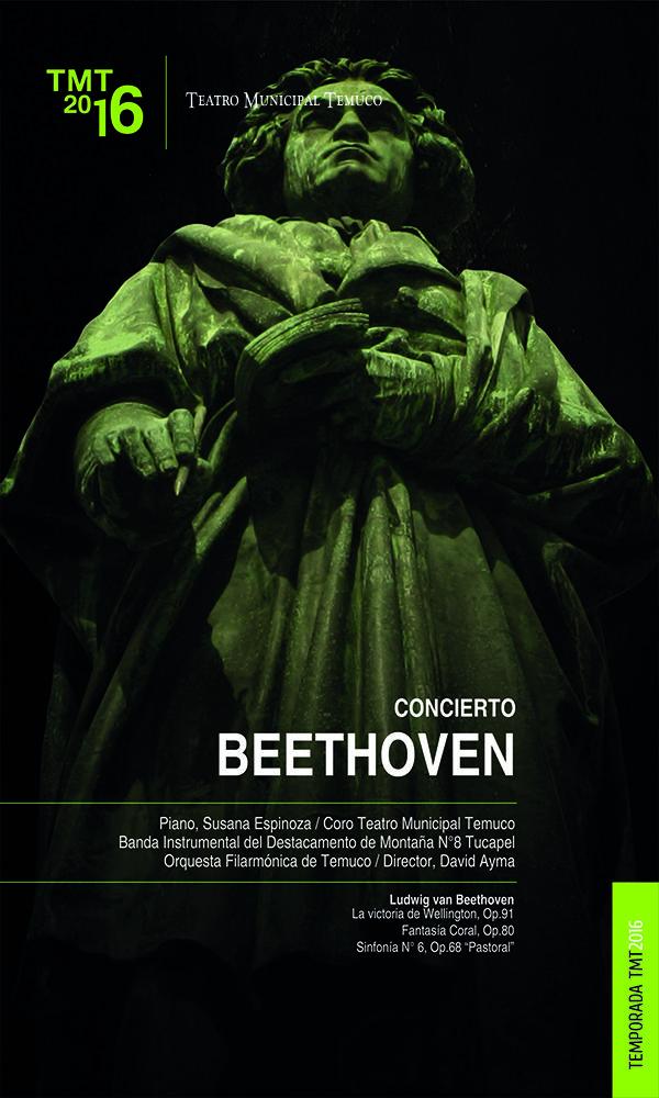 Concierto Beethoven, Orquesta Filarmónica de Temuco, Teatro Municipal Temuco 2016