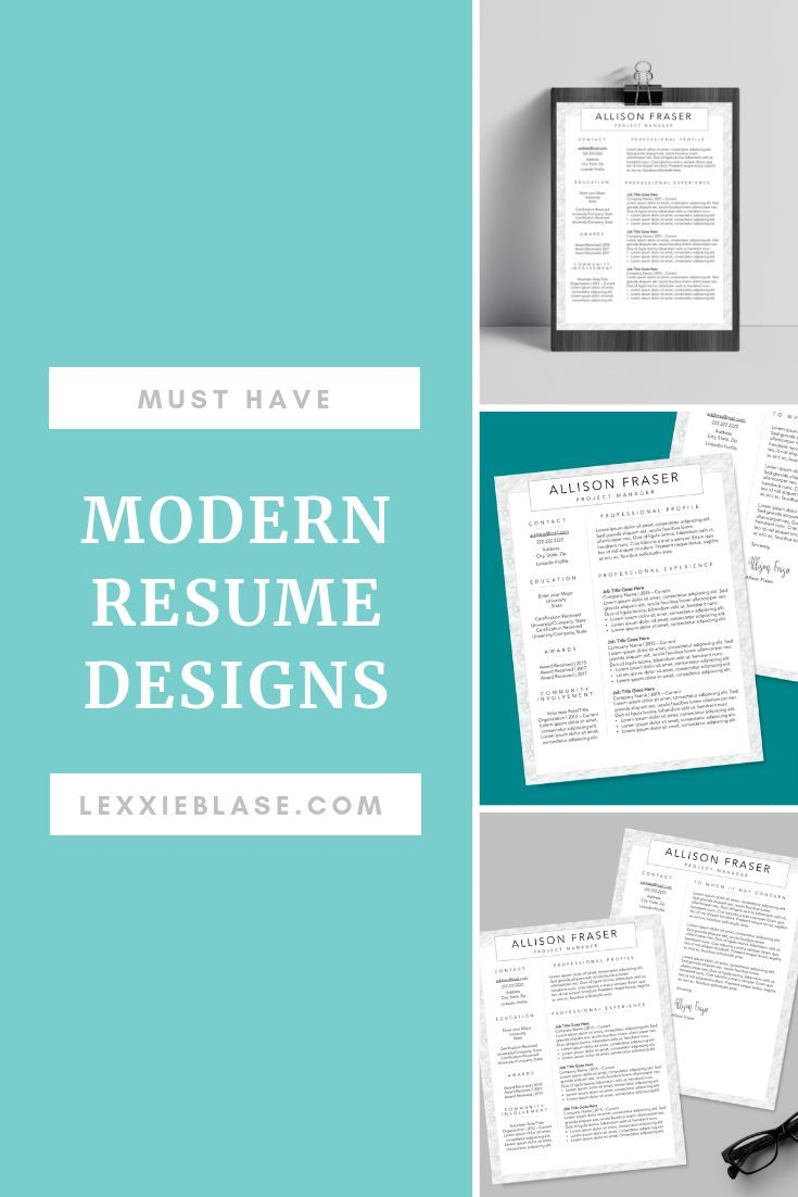 Clean Resume Template Resume Builder Bundle Cover Letter And