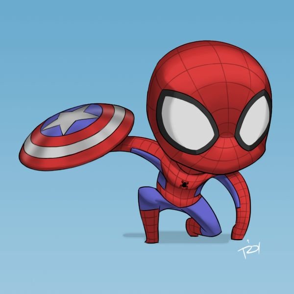 #Spiderman #Fan #Art. (Spiderman Chibi Post) By: Introyvert. (THE * 5 * STÅR * ÅWARD * OF: * AW YEAH, IT'S MAJOR ÅWESOMENESS!!!™)[THANK U 4 PINNING!!!<·><]<©>ÅÅÅ+(OB4E)