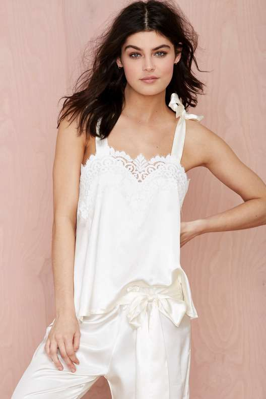 SKIVVIES Nighty Night Satin Blouse - For Love and Lemons
