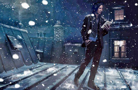 Artwork by Valdi Severus reading in the snow