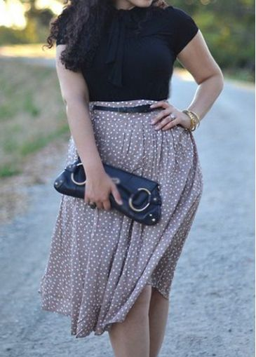 #Polka Dot Print #Two Piece Dresses