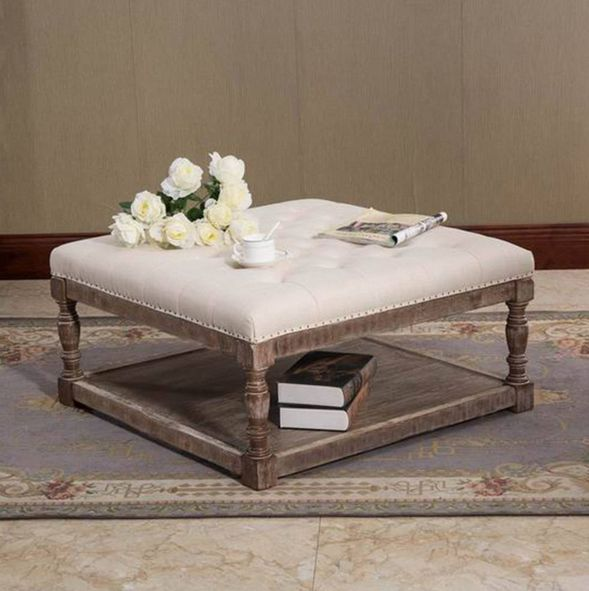 Best 25 Fabric Coffee Table Ideas On Pinterest Upholstered Ottoman Coffee Table Tufted