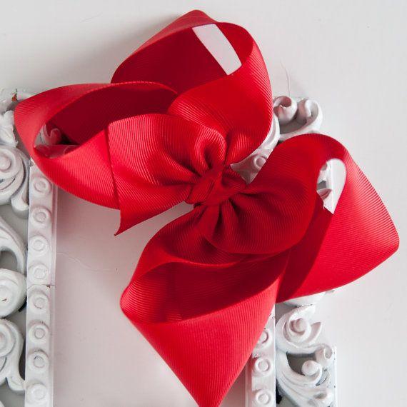 Christmas Hair Bow Christmas Hair Clip by OurLittleCharmedLife