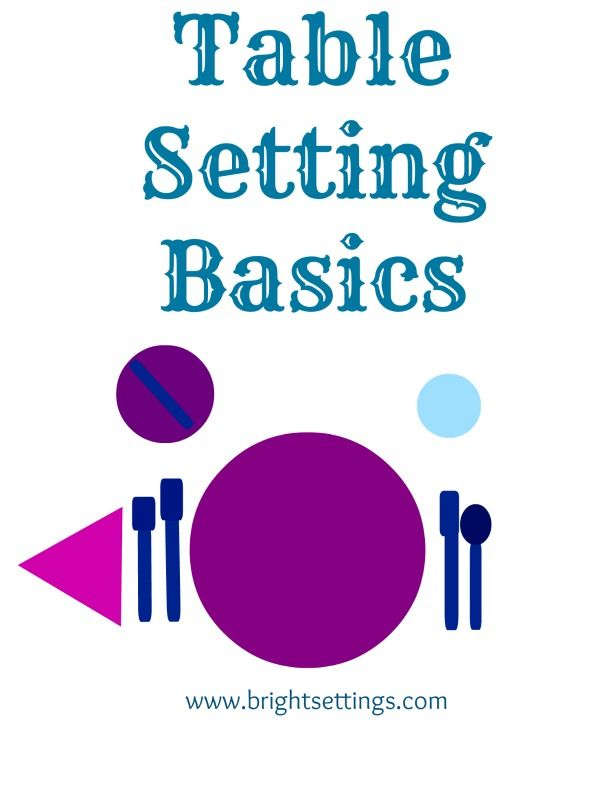 Table Setting Basics