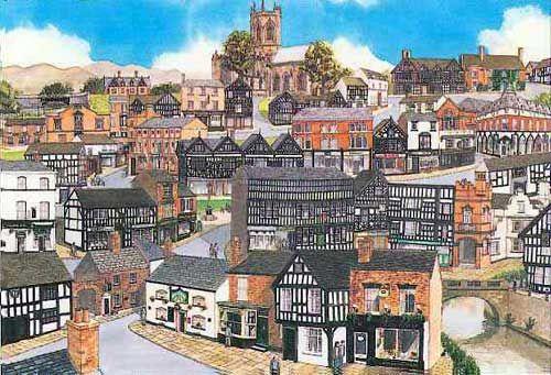Painting of Nantwich, Cheshire http://www.stuartsoriginals.com/towns/nantwich.html