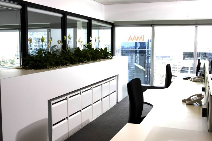 Typical work station area with plants. Brooke Aitken Design