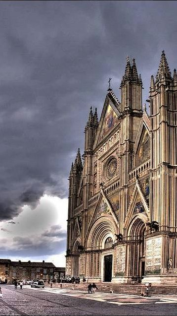 Duomo di Orvieto, Italia   Orvieto is a city and comune in the Province of Terni, in southwestern Umbria, Italy situated on the flat summit of a large butte of volcanic tuff. Wikipedia.   It was been a very important city in Italy since at least the Early Italian Renaissance in the 15th century.,from Iryna