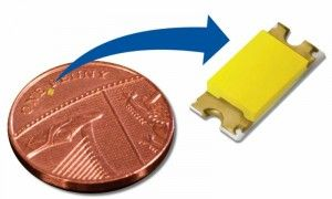 Look at how small the LED's are now! #WearableLED