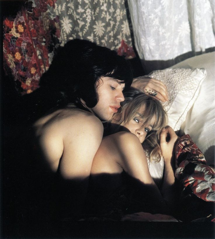 keyframedaily:  Happy 72nd, Anita Pallenberg. With Mick Jagger in Performance (1970).