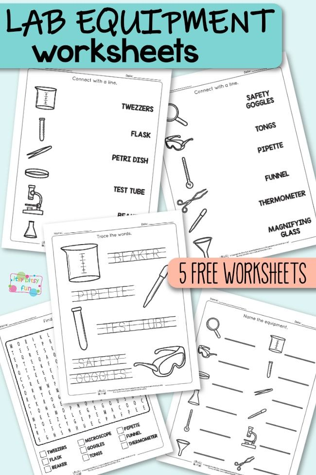 Lab Equipment Worksheets Science Ideas For Kids Lab