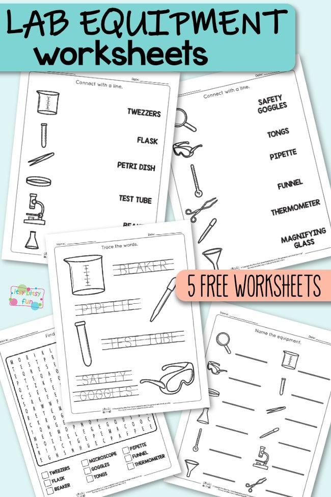 Lab Equipment Worksheets