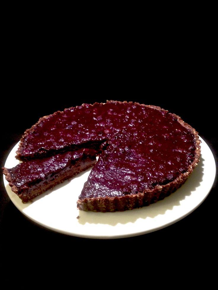 No-bake Chocolate & Blueberry Tart || Call it Cooking #dairyfree #sugarfree #gf