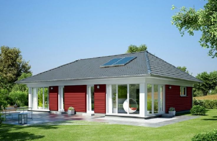 Massivhaus Winkelbungalow 108 Mit Klinker Fassade Town Country Haus Hausbaudirekt Fertighaus Bungalow Walmdach Town Country Haus