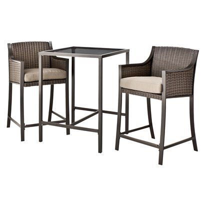 Target Home™ Casetta 3 Piece Wicker Patio Bar Height Bistro Furniture Set .Opens