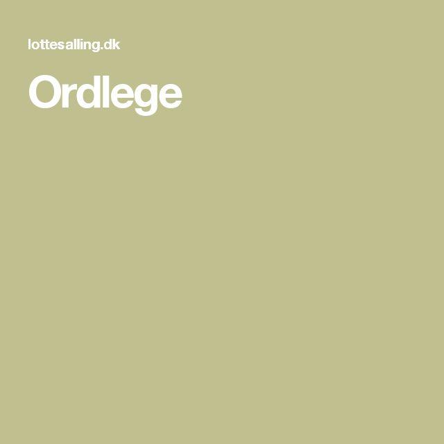 Ordlege