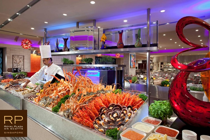 Seafood selection at Carousel buffet restaurant, Level 1
