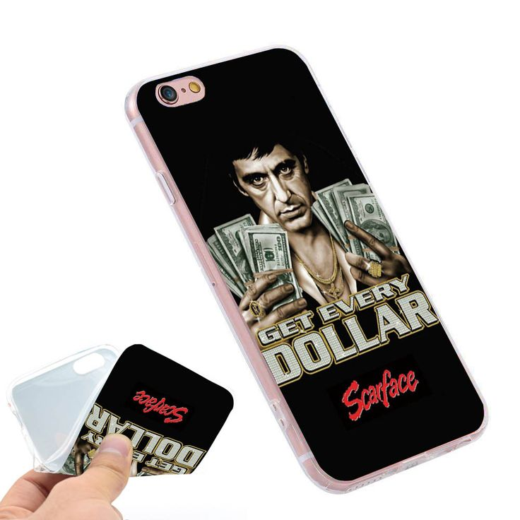 get every dollar Scarface Clear Soft TPU Slim Silicon Phone Case Cover for iPhone 4 4S 5C 5 SE 5S 7 6 6S Plus 4.7 5.5 inch