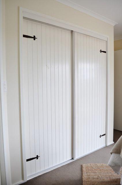 Built-in closet door makeover.