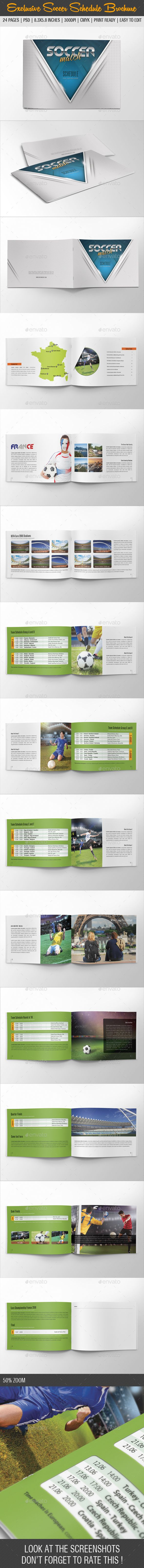 Exclusive Soccer Schedule France 2016 Brochure