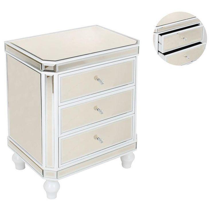Pretty #Mirrored wooden #console in white color. www.inart.com