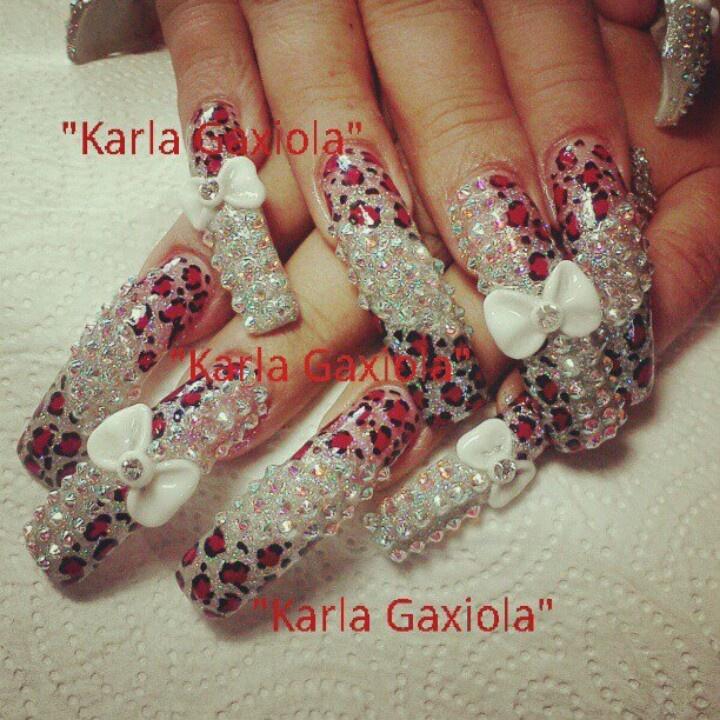 extra long bling nails