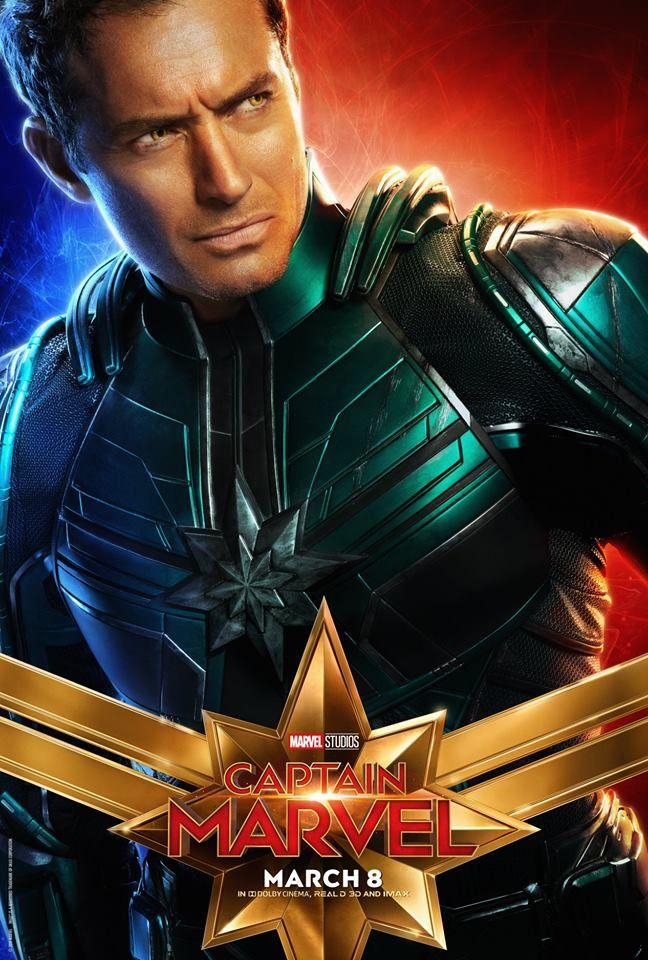 Capita Marvel Confira Os Posteres Dos Personagens Capita