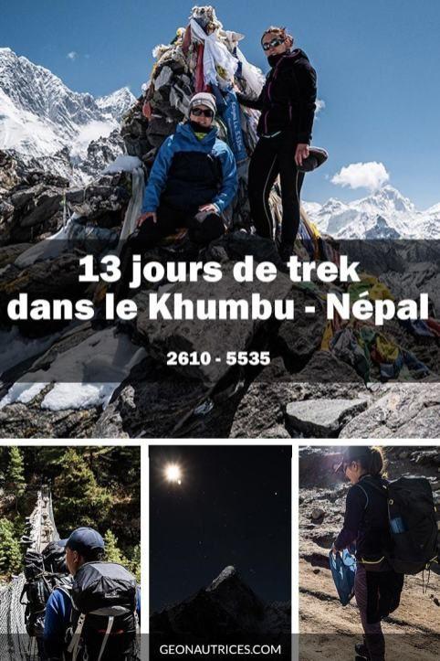 Que m'est-il arrivé sur le trek des 3 cols au Népal