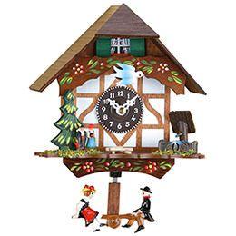 Black Forest Swinging Doll Clock Quartz-movement 15cm by Trenkle Uhren