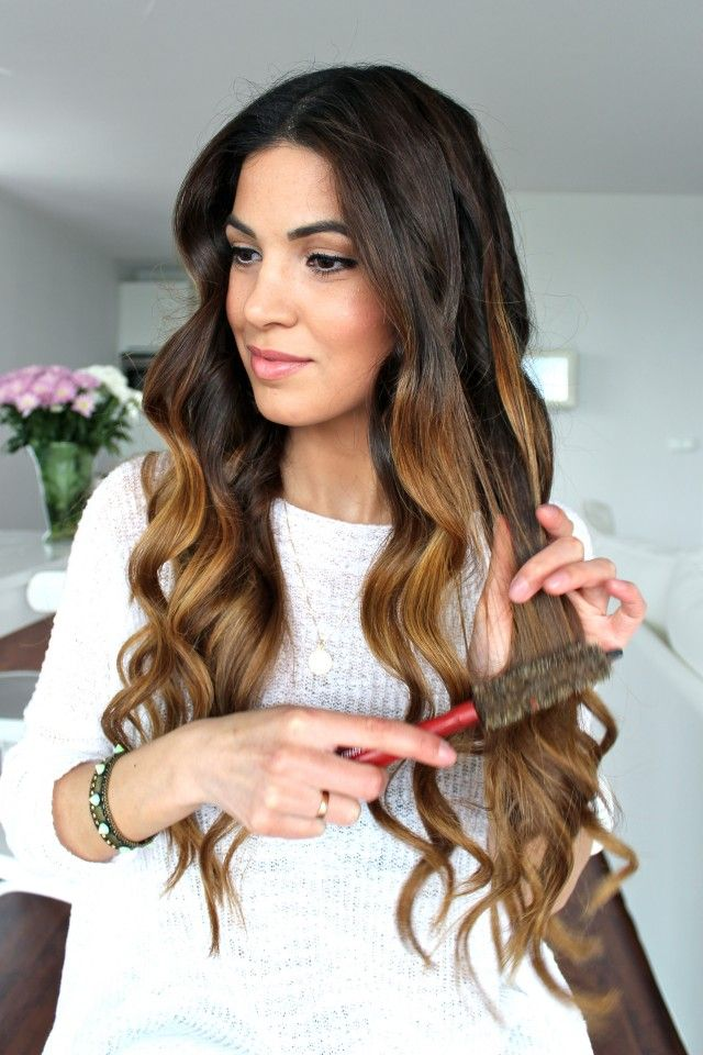 Soft Bouncy Curls Tutorial — Negin Mirsalehi   Hair Styles ...