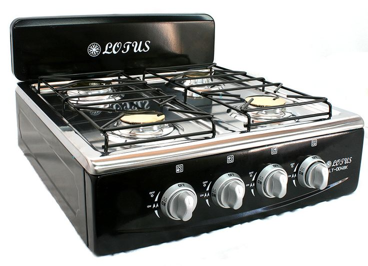 4 Burner Gas Stove Range Propane Kitchen   Patio Cooktop XL Black $69.99