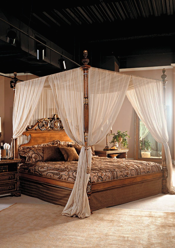Italian French Country Collection Canopy Bed Decorating Bedroomscanopy