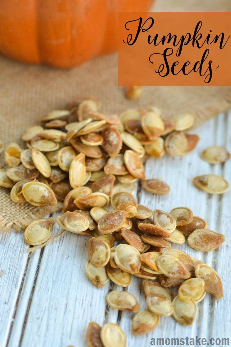 Baked Pumpkin Seeds Recipe - A Moms Take