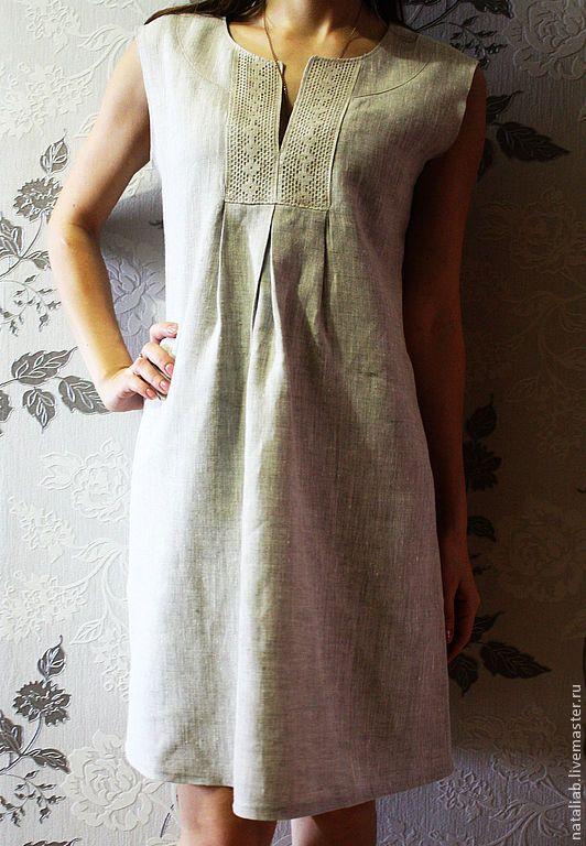 """Купить Льняное платье """"Нежность"""" - платье, льняное платье, платье из льна, льняная одежда"""