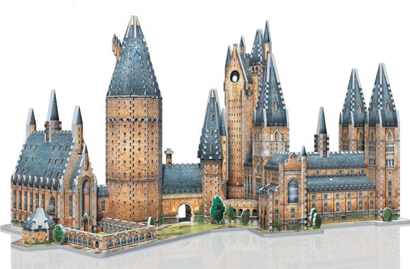 Journey into the magical world of Harry Potter™ and recreate your favourite School of Witchcraft and Wizardry in a 3D puzzle ! Combine Hogwarts - Great Hall with Hogwarts - Astronomy Tower and get a 3D puzzle of 1,725 pieces.