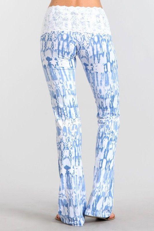 Cutest Ever Yoga Pants - Lavender Blue