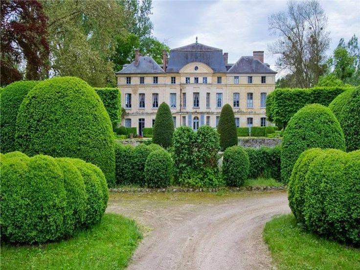 Catherine Deneuve's château de Primard. Design Jacques Wirtz. For sale