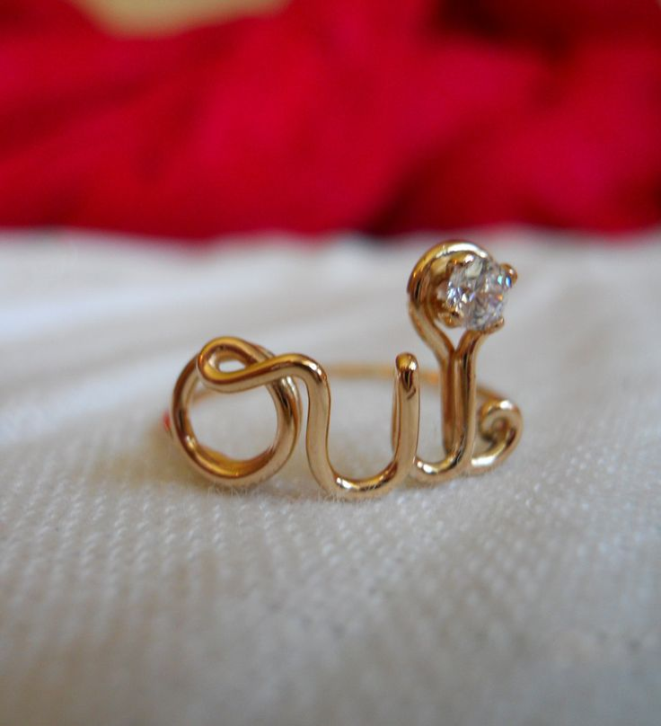 streetbauble oui ring 14k gold filled with cz when you just know pinterest ring and. Black Bedroom Furniture Sets. Home Design Ideas