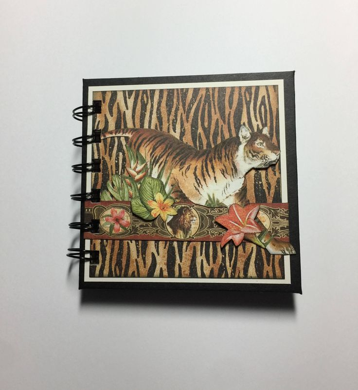 Tiger Post it Note Holder, Wire Bound by InACreativeTizzy on Etsy