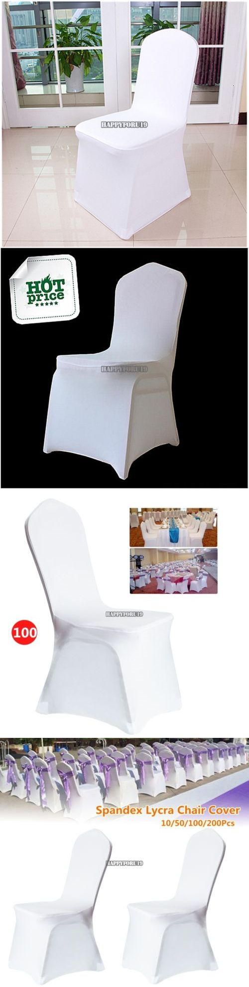 Affordable wedding chair decorations - Venue Decorations 102430 100pcs White Spandex Chair Covers For Wedding Banquet Party Ceremony Use Hfor