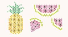 perles miyuki - ananas et pastèque - diagramme gratuit !