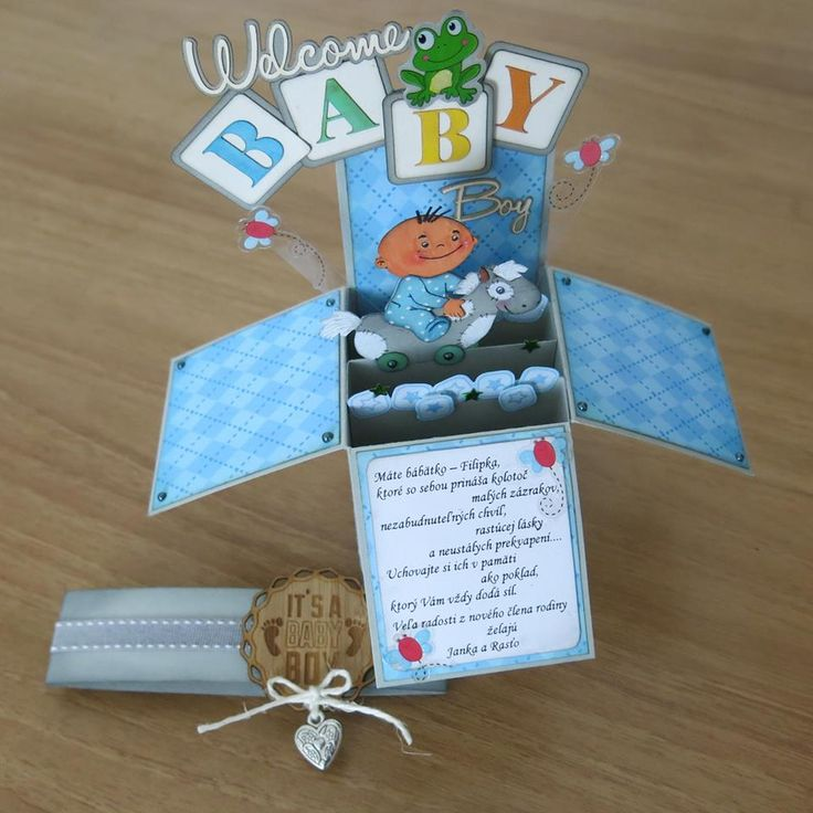 Card in box - baby boy