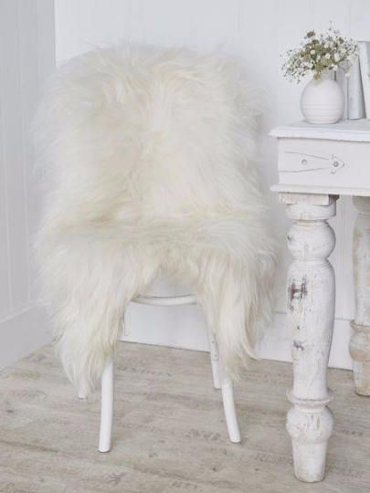 Medium White Lambskin Rug. Premium Quality  Sheepskin About