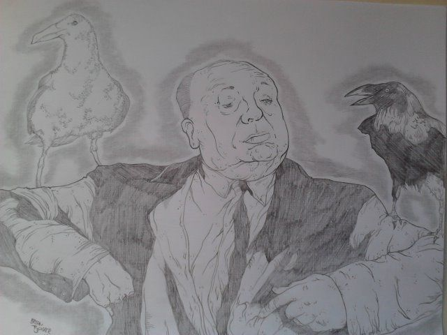 Alfred Hitcock:The Birds  Size: 8.5'x11'  $25:Free shipping!