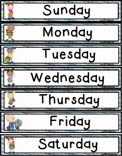 Days of the Week Freebie! - Teachers Take-Out